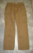 Carhartt Men's Brown Relaxed Fit Cargo Pants - 36 W x 34 L