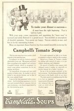 Antique Campbell's TOMATO Soup Kid FORMAL EVENING GOWN Tuxedo Dinner Party AD