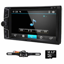 New HD LCD Double DIN Car GPS Stereo DVD Player Touch Screen Bluetooth+Camera