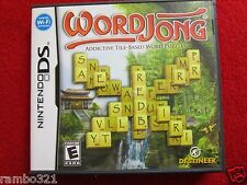 WordJong (Nintendo DS, DSI, 2DS, 3DS, NDS) board game mahjong videogame