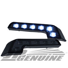 BENZ STYLE 6 LED DAYTIME RUNNING HEADLIGHTS BUMPER FOG LIGHTS BLACK for NISSAN
