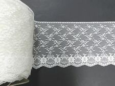 "Vintage Bridal Lace Trim Ivory 6.5"" Wide  224 Yards Spool Bolt"