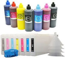 7X300 Refillable Ink Cartridge+7X200 UltraChrom K3 Ink fr Epson Stylus 7600/9600