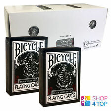 ELLUSIONIST BLACK TIGER 12 DECKS RED PIPS BICYCLE PLAYING CARDS SEALED BOX CASE