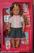 """American Our Generation 18"""" JENNY girl doll and the Sweet Shoppe Mystery Set"""