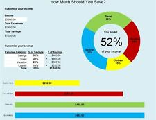 Personal Budget Simple finance saving template spreadsheet 2016 quick software
