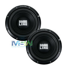 "(2) ALPINE SWA-10S4 10"" BASSLINE CAR AUDIO SUBWOOFERS SUBS WOOFER 4-OHM SVC PAIR"