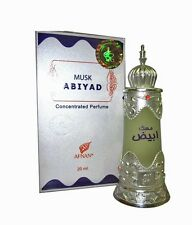 Musk Abiyad by Afnan Perfumes Musky Woody Rose Oud Concentrated Perfume Oi 20ml