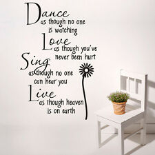 Hot Wall Papers Proverbs Decal Quote Wall Stickers PVC Vinyl Creative Home Decor