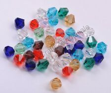Wholesale Bicone Faceted Rondelle Czech Glass Crystal Charms Loose Spacer Beads