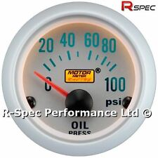 Silver Face 52mm Oil Pressure / Press Gauge Kit PSI With 1/8 Npt Pressure Sensor