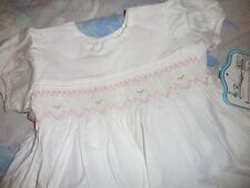 nwt Remember Nguyen white smocked dress bloomer baby girl newborn free ship USA