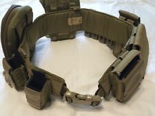 Eagle Industries Khaki Padded Belt (Sz 36) with Pouches (8) SOF NSW Navy SEAL