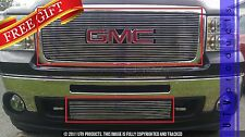 GTG, 2007 - 2013 GMC SIERRA 1500 2pc CHROME UPPER & BUMPER BILLET GRILLE KIT