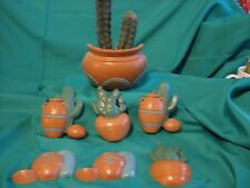 SOUTHWEST BURWOOD PRODUCTS  CLAY JAR  HOME INTERIORS 7 PIECES