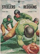 Vintage Nov 3rd 1946 Steelers vs Redskins Program
