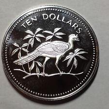 1976 BELIZE TEN  DOLLARS GEM PROOF STERLING SILVER COIN