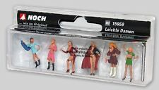 Flirty LADIES OF THE NIGHT - Noch 6-Fig Painted Set #15959 - HO Scale FREE SHIP