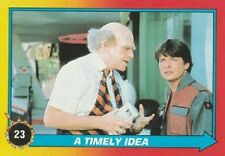 1989 Topps Back To The Future Ii #23 A Timely Idea Marty McFly Michael J Fox