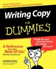 Writing Copy for Dummies by Jonathan Kranz (2004, Paperback)