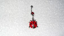 Lucky Ladybug Insect Charm Belly Button Navel Ring Body Jewelry Sexy Dancer