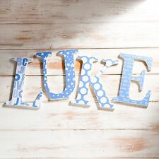 Nursery Wall Letters for baby boy, Christening Gift, Baby Shower, Custom Name