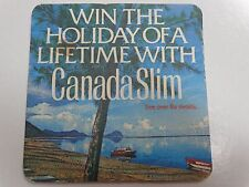 1982 English Beer Coaster ~ Win The Holiday of a Lifetime with CANADA SLIM Tonic