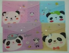 Happy Bear Press Stud Document Envelope Wallet (Pack of 4 pieces Assorted design