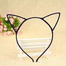 Black Cute Women Girls Wire Cat Ears Material Hairband  Fun Dress Up Halloween