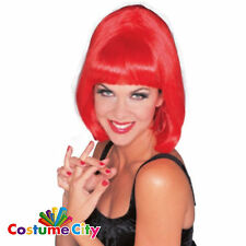 Adult Womens Red Hollywood Starlet Wig 1960s 60s Fancy Dress Costume Accessory