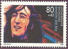 John Lennon, Beatles Original stamp of Germany 1988 mint rare !
