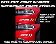 2015 2016 2017 Dodge Charger Side Marker Reflector Smoke Overlay Tint Pre Cut