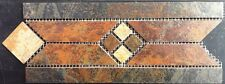 "4 3/4"" tall Ceramic Tile Listello/Border Mosaic - Marazzi Imperial Slate tile"