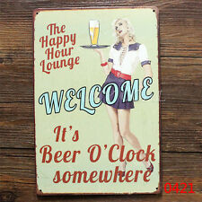 Vintage Metal Tin Plaque Pub Decor Tavern Bar Sign Wall Poster Shop Retro Home