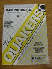 13/05/1989 Darlington v Carlisle United [Last League Game] . Trusted sellers on