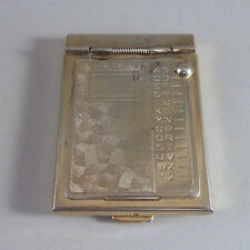 VINTAGE MINI POCKET GOLD TONE FLIP PHONE ADDRESS BOOK & 1955 CALENDER