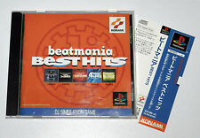 Japanese Playstation BEATMANIA BEST HITS Spine Card Jap PS1 PS Game Jp
