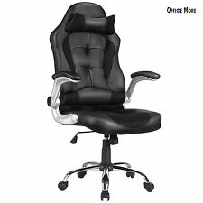 Executive High Back Swivel Office Chair Ergonomic PU Leather Computer Desk Task