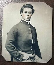 Civil War Military Soldier colored TinType Image C001NP