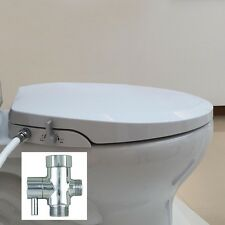 Hibbent Non Electric Toilet Bidet Seat with Cover - Elongated Style(OB107)
