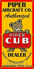 PIPER CUB AIRPLANE AIRCRAFT VINTAGE SIGN REMAKE OLD SCHOOL BANNER GARAGE ART 2X4