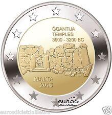 """2 euros commémorative Malte 2016 """"Ggantija"""" - 350 000 exemplaires - Qualité UNC"""