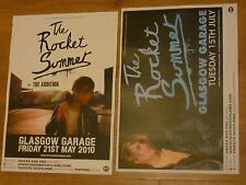 The Rocket Summer Scottish tour Glasgow concert gig posters x 2