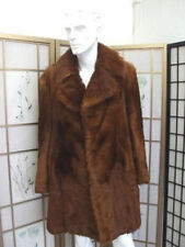 SHOWROOM ITEM BROWN GOAT LAMB FUR COAT JACKET FOR MEN MAN SZ 40-42 $700 discount