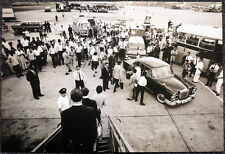 THE BEATLES POSTER PAGE . HONG KONG AIRPORT 1966 . G30