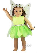 "AFW TINKERBELL DRESS for 18"" Dolls American Girl Costume Clothes Peter Pan NEW"