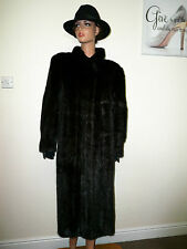 Genuine Sixth Sense Real Mink Fur Coat Jacket Mahogany Black Nerz 14 - 16 - 18