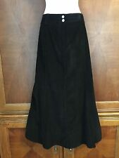 14 L Large Charter Club Long Black A-line Skirt Cord Corduroy Lined Light Weight