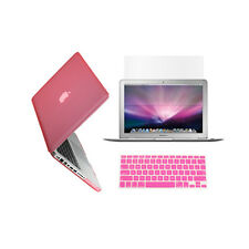 "3in1 PINK Crystal Case for Macbook Pro 13"" A1425 Retina display +Key Cover+LCD"