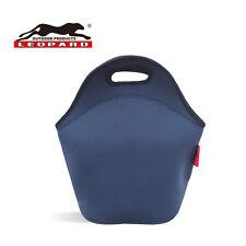 Leopard Outdoor Neoprene Lunch Bag (Navy Blue)